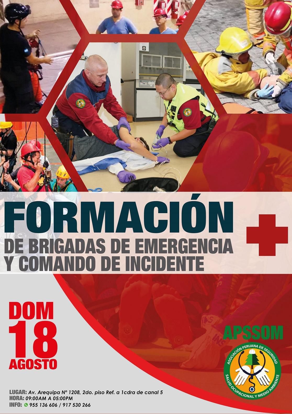 CURSO: FORMACIÓN DE BRIGADAS Y COMANDO DE INCIDENTES
