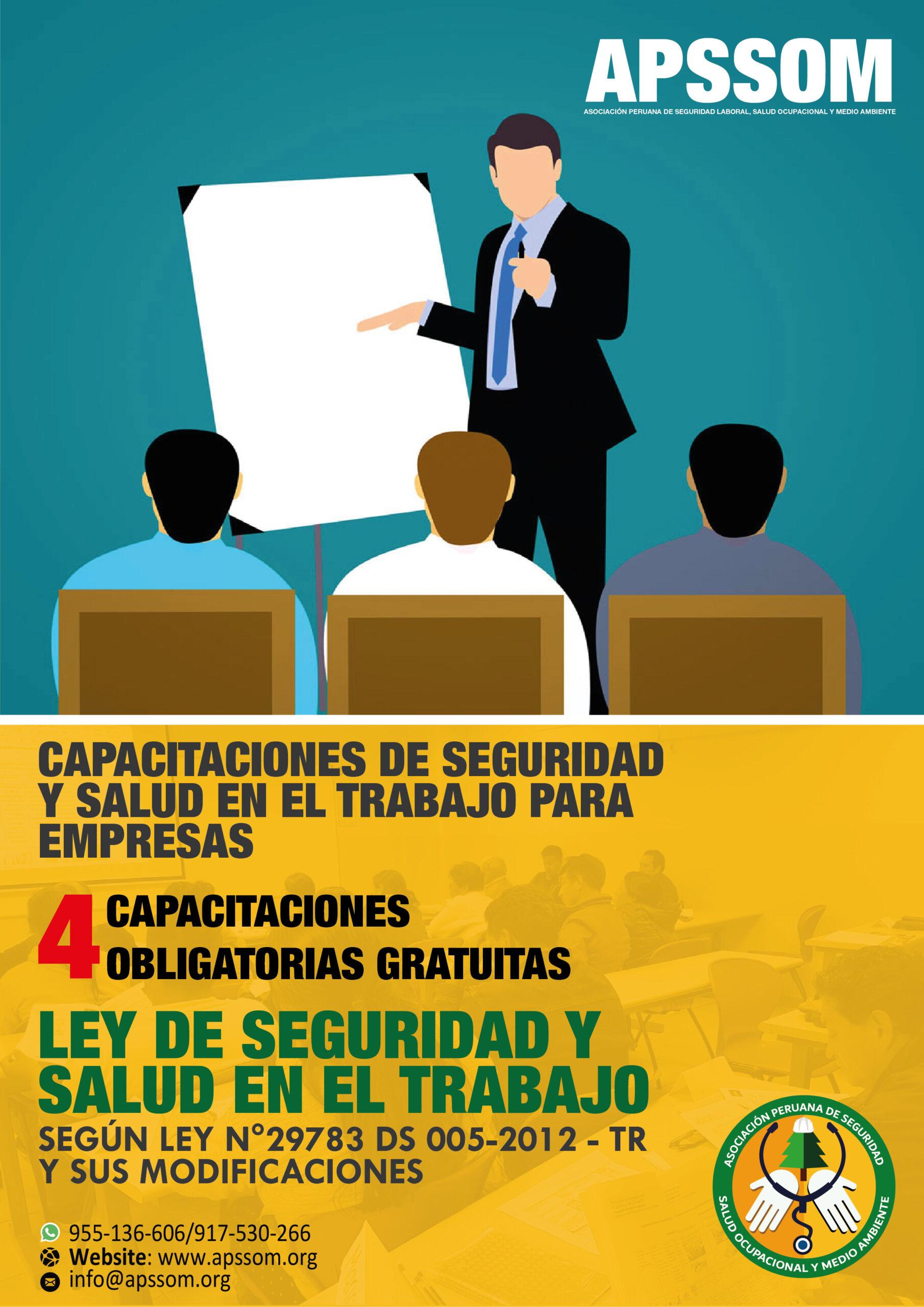 CAPACITACIONES GRATUITAS PARA EMPRESAS CONFORME A LA LEY N.º 29783 – SST